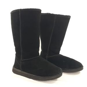 UGG Classic Tall Black Boots 5815 W 10 NICE